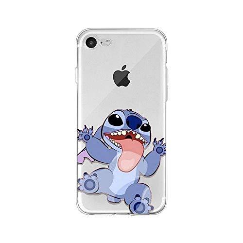 LXXTK Cute Cartoon Lilo Stitch TPU Soft Phone Accessories Funda iPhone Case A4 For Funda iPhone 6 6S