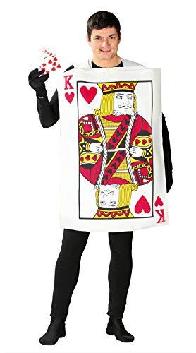Guirca- Disfraz adulto rey de cartas, Talla 52-54 (80769.0)