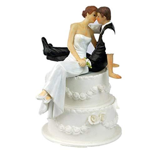 Zeagro 1 x Brautpaar Kunstharz Figur Romantische Tortendekoration Kunstharz Basteln Hochzeit Dekoration