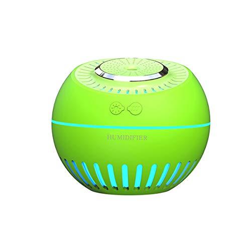 HL Humidificadores silenciosos de gran capacidad para tanque de agua, luz nocturna colorida para dormitorio, yoga, sala de estar (380 ml)-verde