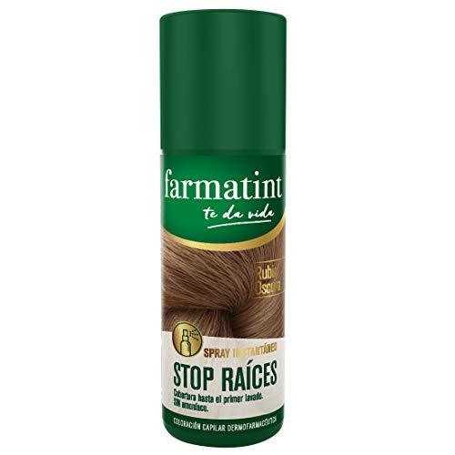 Farmatint Spray instantáneo capilar Stop Raíces, tono rubio oscuro - 75 ml
