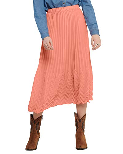 ONLY Damen ONLKELINA MIDI Skirt WVN Rock, Terra Cotta, 42