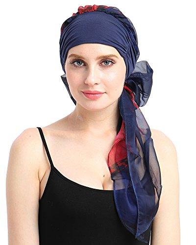 FocusCare Chemo schal leicht Krawatte Bambus mit Turban Hut für krebspatienten
