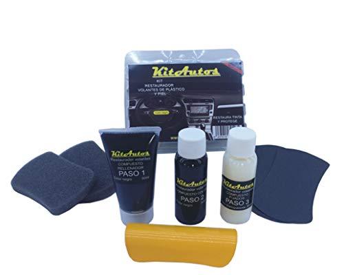 KITAUTOS Kivp Reparatur-Set für Lenkräder aus Leder und Kunststoff, Schwarz