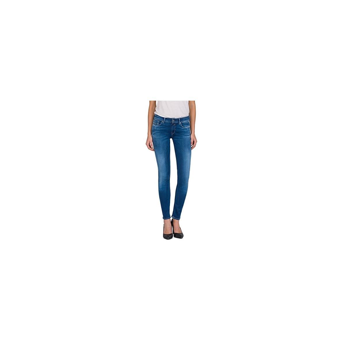 Replay Damen Luz Skinny Jeans Blau