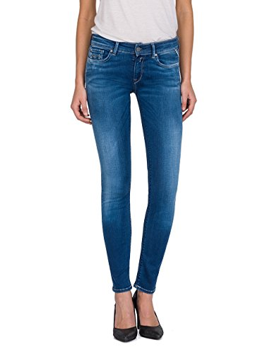 Replay Damen LUZ Skinny Jeans, Blau (Mid Blue Denim 10), W29/L30