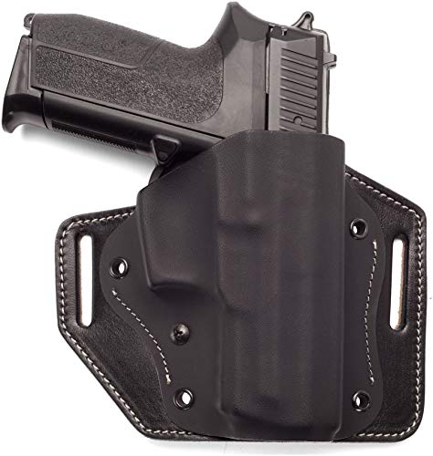 Craft Holsters CZ 75 D PCR Compact Compatible Holster - Exclusive Kydex Belt Holster with Leather Platform (6302)