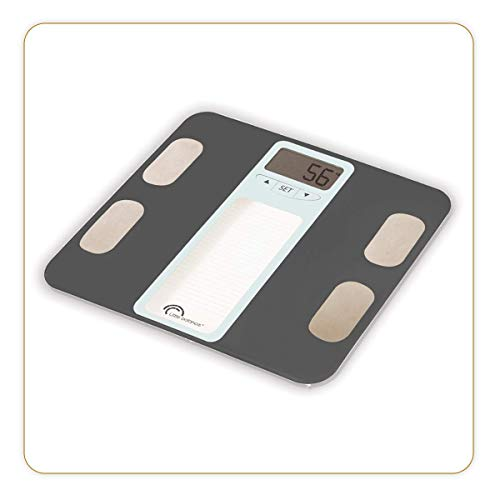 LITTLE BALANCE - Impédancemètre Body Graphic - Pèse-personne électronique avec analyse et suivi de la composition corporelle (Poids / Eau / Masse osseuse et musculaire) - Multi-utilisateurs