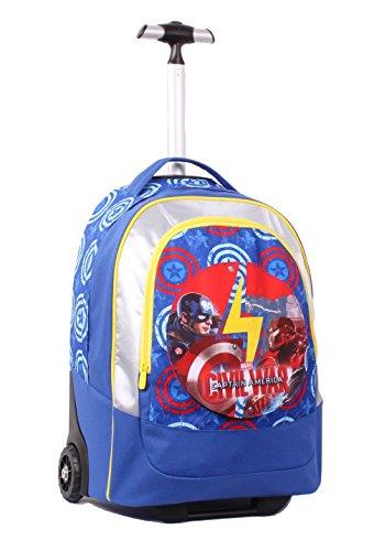 Seven Captain America Civil War 2B8001605-591 Zaino, 30 litri, Poliestere, 2 cerniere, Multicolore