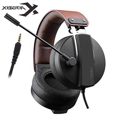Best PS4 Gaming Headset Casque 3.5mm PC Gamer Stereo Headphones with Microphone for One Laptop Computer Game