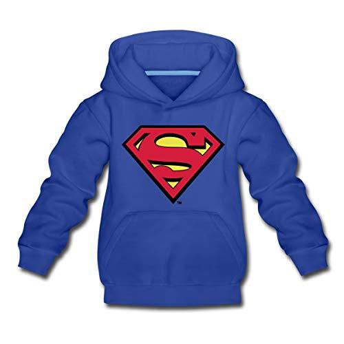 DC Comics Superman Logo Original Kinder Premium Hoodie, 110-116, Royalblau