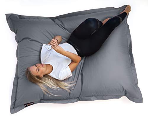 SNOOZER® Riesensitzsack Bean Bag Sitzkissen Indoor Outdoor XXL Sitzsack 400l Füllung (Charcoal)