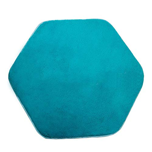 DASNTERED Tapis de Tente hexagonale, Tapis de Princesse hexagone Rose Tapis de Tapis Doux Corail pour Tente de Jeu pour Enfants, Tapis d