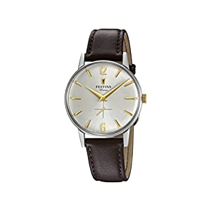 Festina Mens Analogue Classic Quartz Connected Wrist Watch with Leather Strap F20248/2