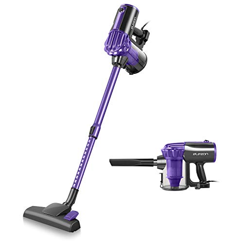 elezon Corded Vacuum Cleaner, 17KPa Powerful Suction Stick and Handheld 2 in 1 Lightweight Bagless Vacuum Cleaner with 7m Cord HEPA Filters, Purple E600
