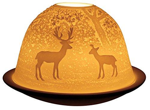 welink light-glow Porte Bougie Chauffe-plat, Forest Deer – ld09021