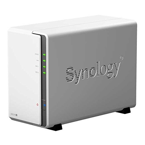 Synology DS216J 2-Bay 2TB Bundle mit 2X 1TB WD10EFRX Red