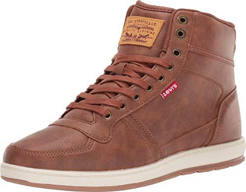 Levi's Mens Stanton Waxed UL NB Fashion Hightop Sneaker Shoe, Tan/Brown, 8 M