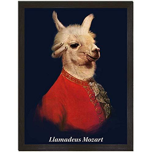 Impression De Lama Drôle, Amadeus Lama Wall Art, Llamadeus Mozart Affiche Lama, Affiches Inhabituelles, Maison Originale, Cadeaux De Lama 122X183CM