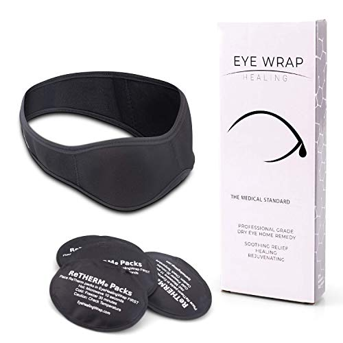 Neoprene Hot Cold Compress for Eyes - EyeWrap by FaceWrap System - Ice Packs for Swelling, Dry Eye, Puffy Eyes