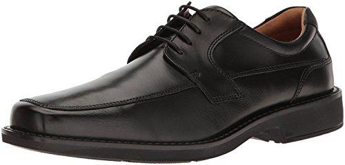 ECCO Men's Seattle Apron Toe Tie Oxford, Black, 12-12.5