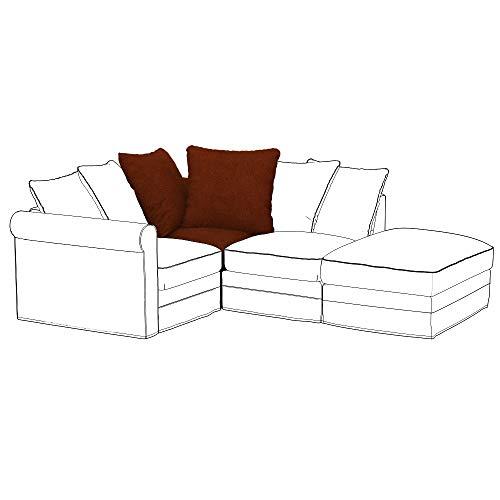 Soferia Funda de Repuesto para IKEA GRONLID módulo de Esquina, Tela Strong Copper, Naranja
