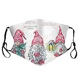 ROMIDA Mundschutz mit Multifunktionstuch 3D Weihnachten, Weihnachtsmann Rentier Motiv Halstuch Schals Festival Kostüme Santa Kleidung for Mund und Nasenschutz Kinder und Teenager