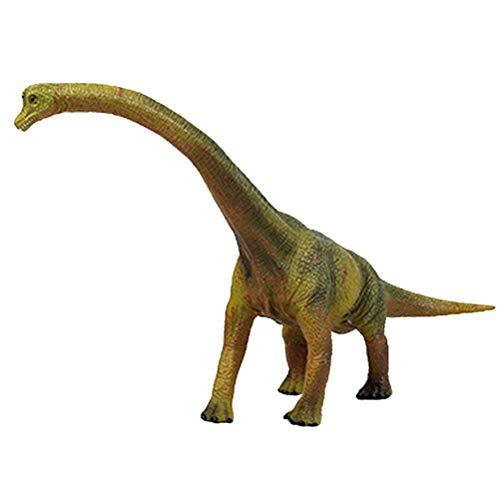 FLORMOON Juego de Dinosaurios - Realista Brachiosaurus Verde Dinosaur- Figuras de Dinosaurio de plástico - Decoración de Pasteles de cumpleaños Juguete Escolar para niños pequeños(Verde)