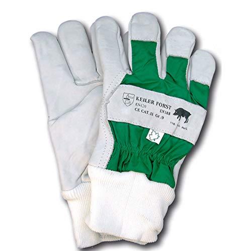 KEILER Forst, Rindnarbenlederhandschuh EN 388+EN420, Kat. 2, Größe 8, 1 Paar