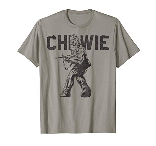 Star Wars Last Jedi Chewie Distressed Vintage T-Shirt