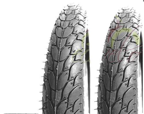 ECOVELO 2 Copertoni 20 x 1.75 (47-406) per Bici Graziella, City Bike | Pneumatici Stradali Neri in Gomma Bicicletta