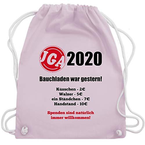 Shirtracer JGA Junggesellenabschied Männer - Bauchladen war gestern! 2020 - Unisize - Pastell Rosa - rucksack jungesellenabschied - WM110 - Turnbeutel und Stoffbeutel aus Baumwolle
