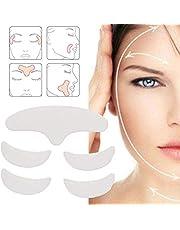 5 stuks anti-rimpel siliconen patch, huidlifting herbruikbaar wasbaar voorhoofdkussen voor gezicht, nek, voorhoofd, oog en glimlach fijne lijntjes en tekenen van veroudering