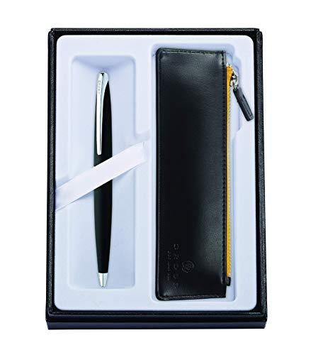 Cross Atx - Juego de bolígrafo y funda con cremallera, color negro basalto