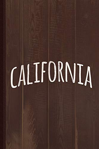 Hand California Journal Notebook: Blank Lined Ruled For Writing 6x9 120 Pages