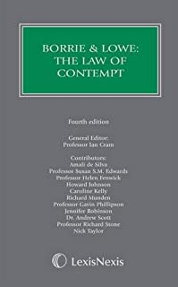 Borrie and Lowe: The Law of Contempt