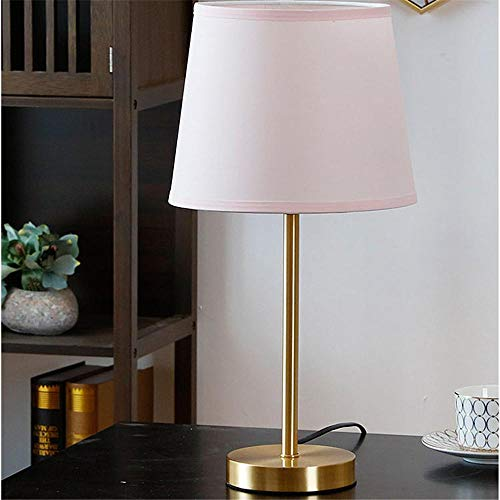 Cohleb lampenkap en bedlampje van stof, vierkant, LED, kleur roze, geschikt voor woonkamer of kantoor
