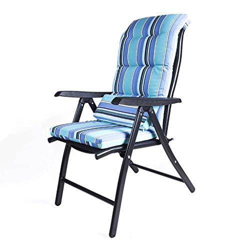 WJXBoos Sillas reclinables plegables Silla de jardín Tumbonas de playa Sillas reclinables Taburete plegable en textoline resistente al agua (Color: negro mate, dimensiones: 69 x 60 x 110 cm)