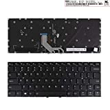 Laptop Replacement Keyboard for Lenovo Yoga 910-13IKB Yoga 5 Pro Black(Backlit,Without Frame,for Win8)