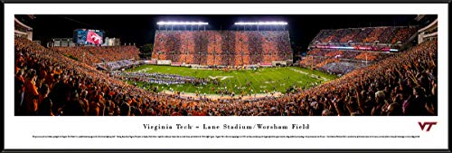 Virginia Tech Football, Stripe - 40.25x13.75-inch Standard Framed Picture by Blakeway Panoramas
