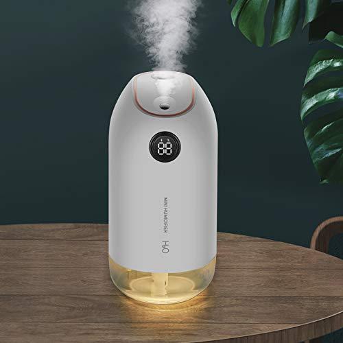 KANINO - Humidificador Ultrasónico 500ML Ultra Silencioso Humidificador Bebes con Luces Nocturnas Apagado Automático, Difusor de Aceites Esenciales para Hogar, Oficina, Yoga - Blanco