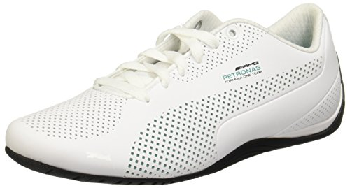 PUMA Mercedes AMG Petronas Drift Cat Ultra Sneaker Puma White-Spectra Green-Blk UK 9.5_Adults_FR 44