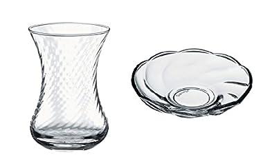 Turkish Tea Glasses & Saucers Set -Multiple Designs - 12 Pieces