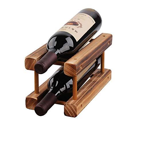 CHFQ Estante para Vino Independiente Soporte para Almacenamiento de Vino Estante para Vino Estante para Botellas de Vino Fácil instalación de Madera para encimeras de Cocina, Despensa (Color 2 par