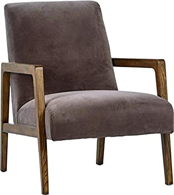 Amazon Com Rivet Huxley Leather Mid Century Accent Chair