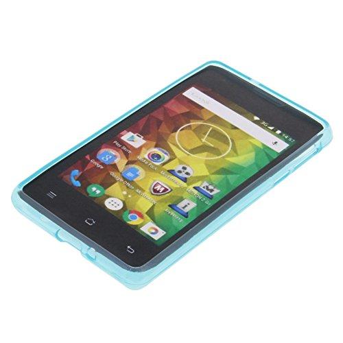 foto-kontor Tasche für MEDION Life E4005 Gummi TPU Schutz Hülle Handytasche blau