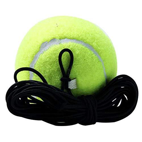Sonline Pelota de Tenis Deportiva de 3 Piezas con Cuerda de Tenis Cuerda de Goma úNica para JóVenes Suministros de Entrenamiento de Tenis con LíNea de Tenis