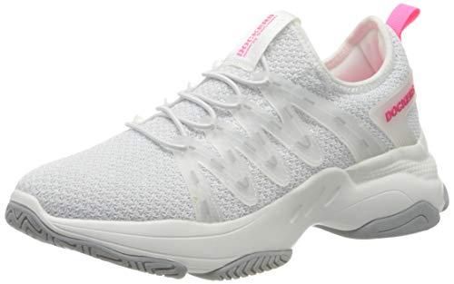 Dockers by Gerli Women's Low-Top Sneakers, White Weiß Neon Pink 596, 8 UK