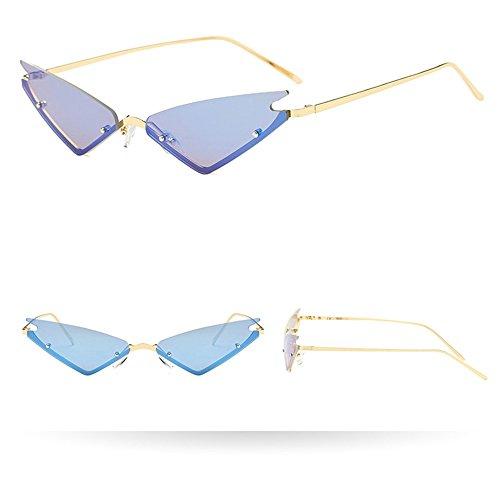 SHINEHUA Cateye Herren Damen Sonnebrille Vintage Retro Katzenaugen Brille Triangle Gläser UV-400 Schmal Polarisiert Sonnenbrillen Brillenmode Sunglasses Eyewear Sportbrille