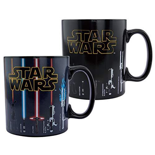 Paladone PP6609SW Star Wars Taza de café, armas de cambio de calor XL, 550 ml, gres